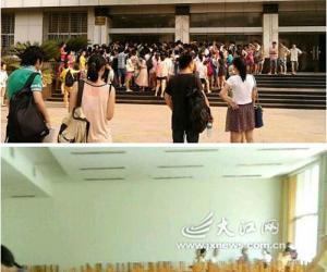 """南昌大学开学上演""""抢座大战"""" 人数是座位的两倍"""