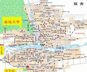 高校导航:延边大学校园平面图